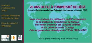 Invitation 20 ans FLE